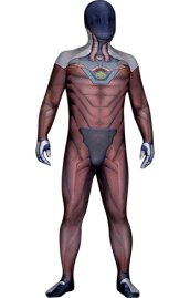 Genji Overwatch Undersuit | Printed Spandex Lycra Zentai Suit with 3D Muscle Shading