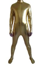 Gold Shiny Metallic Catsuit (No Hood No Hand)