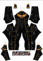 Gold Zeo Printed Spandex Lycra Costume