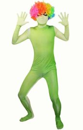 Green Gradient Spandex Lycra Zentai Suit with Spider Eyes