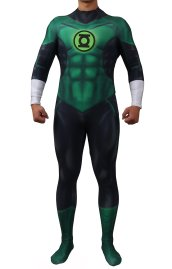 Green Lantern Printed Spandex Lycra Costume no Hood by SuperGeek