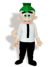 Green,Nude,White And Black Short-furry Mascot Costume