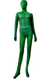 Green Printed 3D Muscle Shading Deadpool Zentai Suit