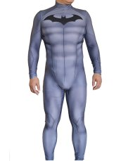 Grey B-guy Printed Spandex Lycra Zentai Costume with 3D Muscle Shading