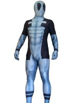 Grey Deadpool | Printed Spandex Lycra Zentai Costume with 3D Muscle Shading