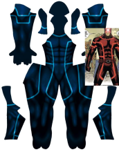 House of X | Cyclops Printed Blue Costume