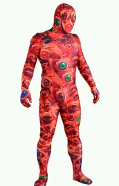 I SEE YOU | Eyes Printed Spandex Lycra Halloween Full Bodysuit