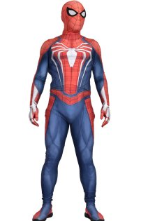 Insomniac S-guy Video Game Printed Spandex Lycra Costume with 3D Muscle Shading
