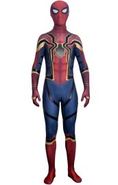 Iron Spider Dye-Sub Spandex Lycra Costume with Fake Leather and Lenses Attached