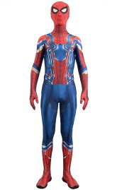 IRON SPIDER MCU Blue Version Printed Costume Set with Soles and Lenses