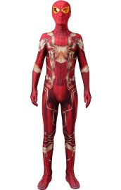 Iron Spider MCU Gold and Red Printed Spandex Lycra Costume