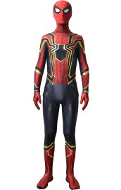 IRON SPIDER MCU V3 Printed Costume Set with Golden Film Printed