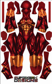 Iron Spider Plain Printed Spandex Lycra Costume
