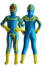 Kick Ass Kids Costume | Blue and Yellow Spandex Lycra Zentai Suit