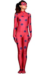 Ladybug Costume | Printed Spandex Lycra Full Bodysuit with Mask and Honeycomb Pattern