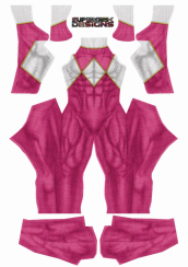 Male Pink Power Ranger Printed Spandex Lycra Costume