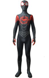 Miles Morales Into the Spider Verse Costume with Puff Painted Silver Lines