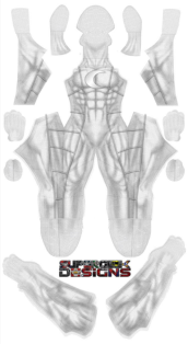 Moonknight Printed Spandex Lycra Costume