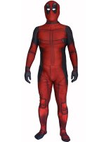 Movie Deadpool Printed Spandex Lycra Zentai Costume with 3D Muscle Shading