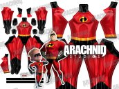 MR INCREDIBLE Printed Spandex Lycra Costume