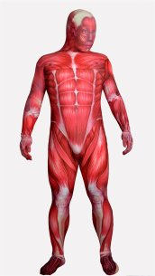 Muscle Printed Spandex Lycra Zentai Suit