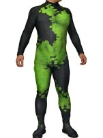 New 52 Poison Ivy Printed Spandex Lycra Zentai Costume with 3D Muscle Shading