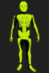 NEW! Glow in Dark Skeleton Printed Zentai Suit