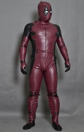 New! Matte Fake Leather Deadpool Costume with Cotton Padding