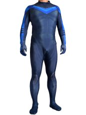 Nightwing Printed Spandex Lycra Zentai Costume with 3D Muscle Shading