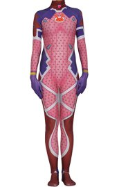 Overwatch D VA Pink Rabbit Custom Pattern Printed Spandex Lycra Costume