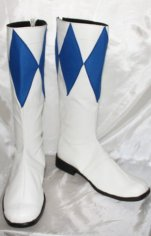 Power Ranger- Mighty Morphin Blue and White Boots