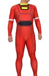 Power Rangers Red Turbo Printed Spandex Lycra Costume