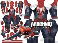 PS4 SPIDER-MAN UPDATED Dye-Sub Spandex Lycra Costume