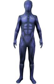 Purple Black Panther Printed Spandex Lycra Costume