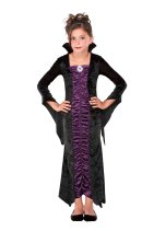 Purple Vampire Halloween Costume for Kid