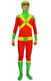 Red and Green Superhero Spandex Lycra Zentai Suit
