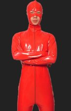 Red PVC Full Body Zentai Suits with Open Eyes,Nose and Mouth