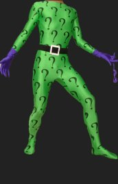 Riddler ! Green Question Mark Zentai Suits