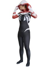 Scarlet SpiderGwen Printed Spandex Lycra Zentai Suit with No 3D Muscle Shades