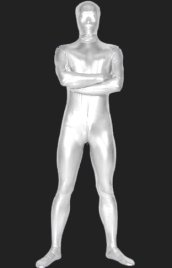 Silver Full Body Suits | Surfer Shiny Metallic Full Body Zentai Suit