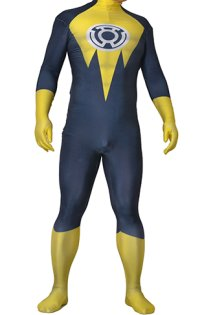 Sinestro Superboy Prime Printed Spandex Lycra Costume with 3D Muscle Shading