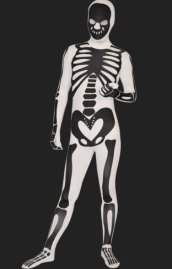 Skeleton Full Body Suit | White and Black Spandex Lycra Full Body Zentai Suits