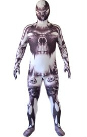 Skull and Month Printed Halloween Zentai Suit | Original