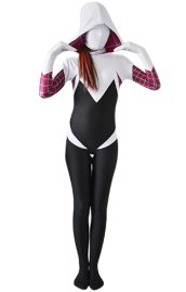 Spider Gwen Stacy | White and Black Zentai Costume No 3D Shades
