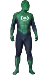 Spider Lantern Printed Spandex Lycra Costume with 3D Muscle Shading