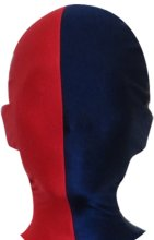 Split Zentai Mask | Red and Navy
