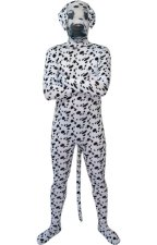Spotty Dog Printed Face Spandex Lycra Zentai Costume