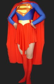 Superman! Blue and Red Lycra Spandex Super Hero Zentai Suits
