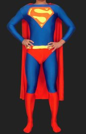 Superman! Red and Blue Lycra Spandex Unisex Super Hero Zentai Suit