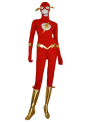 The Flash Zentai Costume | Red and Gold Spandex Lycra and Metallic Zentai Suit